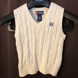 Chaps 4t White sweater vest